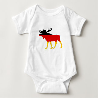 German Flag - Moose Baby Bodysuit