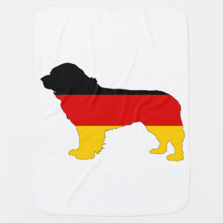 German Flag - Newfoundland Dog Baby Blanket