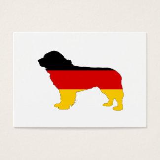 German Flag - Newfoundland Dog Business Card