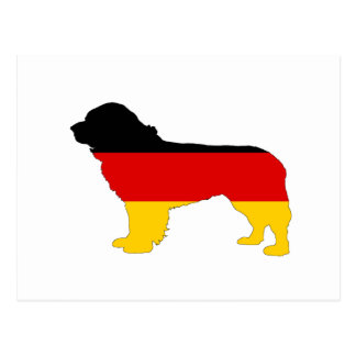 German Flag - Newfoundland Dog Postcard