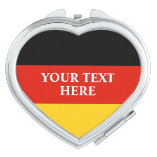 German flag of Germany personalized heart shape Compact Mirror