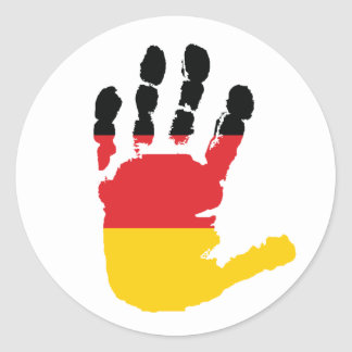 German Flag On A Hand Stickers
