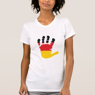 German Flag On A Hand Womens T-Shirt