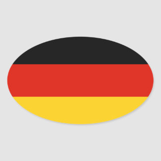 German flag oval sticker | Flag of Germany