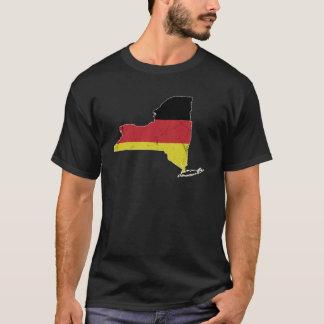 German Flag over New York T-Shirt