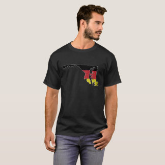 German Flag over the state of Maryland T-Shirt