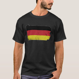 German Flag over the state of Pennsylvania T-Shirt