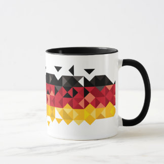 German Flag, Poly Art Mug