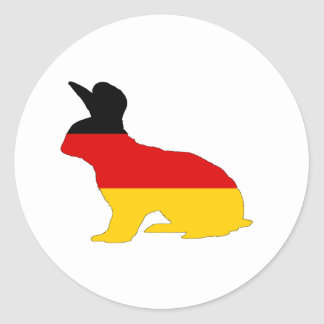German Flag - Rabbit Classic Round Sticker