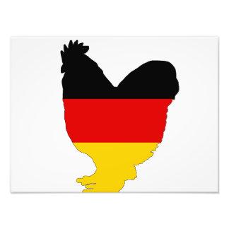 German Flag - Rooster Photo Print