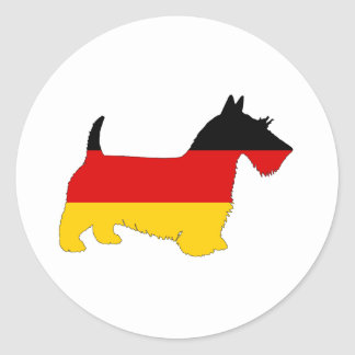 German Flag - Scottish terrier Classic Round Sticker