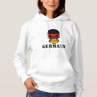 German Flag Skull Germany Hoodie