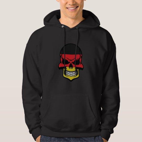 German Flag Skull Hoodie