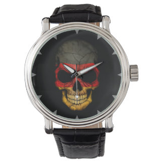 German Flag Skull on Black Watch