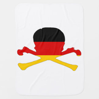 German Flag - Skull Receiving Blanket
