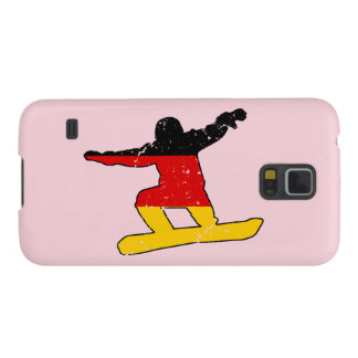 German flag SNOWBOARDER (blk) Galaxy S5 Case