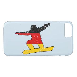 German flag SNOWBOARDER (blk) iPhone 8/7 Case