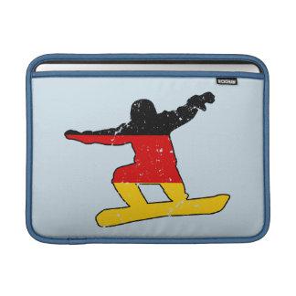 German flag SNOWBOARDER (blk) MacBook Sleeve