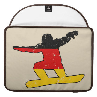German flag SNOWBOARDER (blk) Sleeve For MacBook Pro