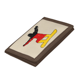 German flag SNOWBOARDER (blk) Tri-fold Wallet