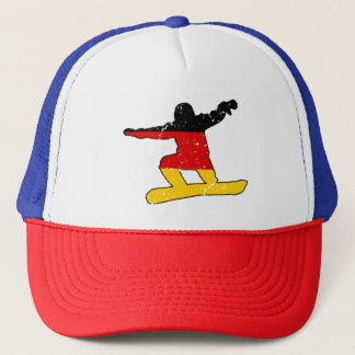 German flag SNOWBOARDER (blk) Trucker Hat