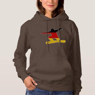 German flag SNOWBOARDER (wht) Hoodie