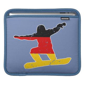 German flag SNOWBOARDER (wht) iPad Sleeve