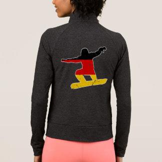 German flag SNOWBOARDER (wht) Jacket