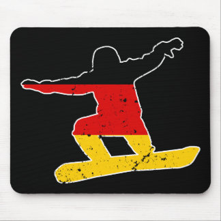 German flag SNOWBOARDER (wht) Mouse Pad
