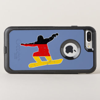 German flag SNOWBOARDER (wht) OtterBox Commuter iPhone 7 Plus Case