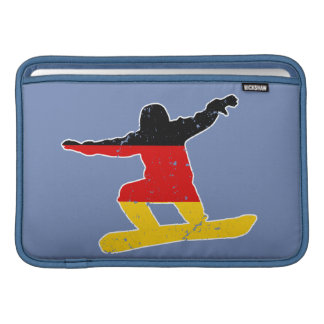 German flag SNOWBOARDER (wht) Sleeve For MacBook Air