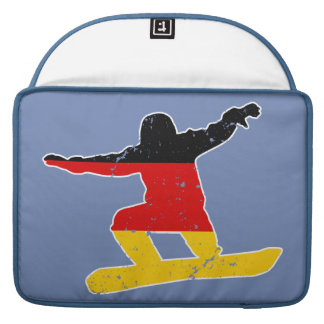 German flag SNOWBOARDER (wht) Sleeve For MacBook Pro