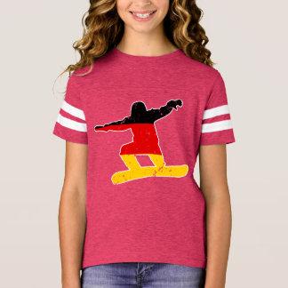 German flag SNOWBOARDER (wht) T-Shirt