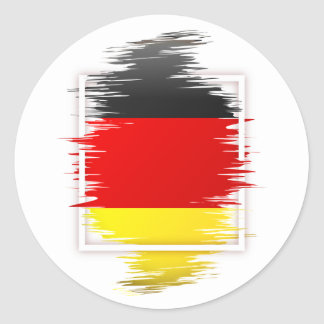German Flag Soccer Classic Round Sticker