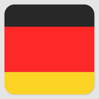 German Flag Square Sticker