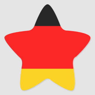 German Flag Star Sticker