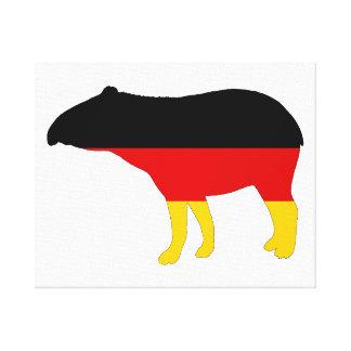 German Flag - Tapir Canvas Print
