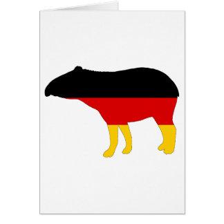 German Flag - Tapir Card