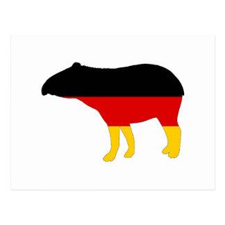 German Flag - Tapir Postcard