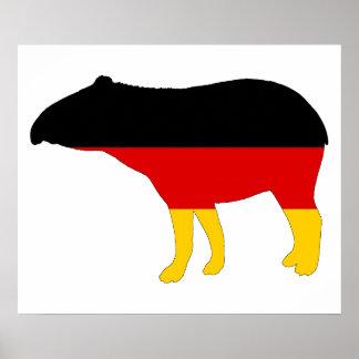 German Flag - Tapir Poster
