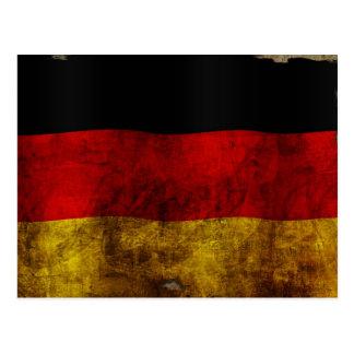 German Flag - Vintage Postcard