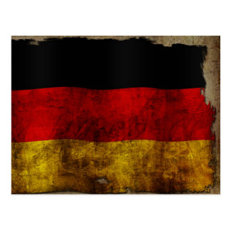 German Flag - Vintage Postcard