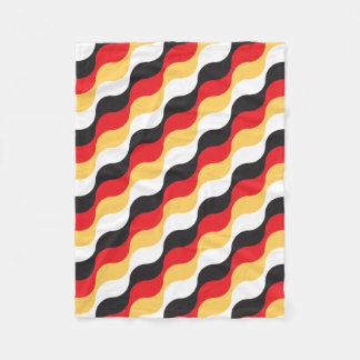 german flag waving fleece blanket
