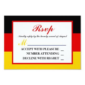 German Flag Wedding RSVP Card