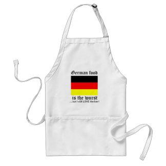 German food is the wurst standard apron
