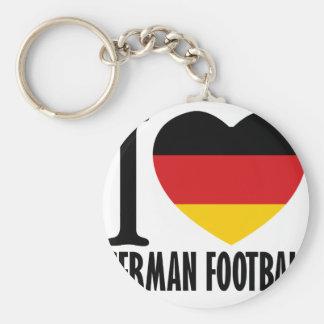German Football DESIGNS Basic Round Button Key Ring