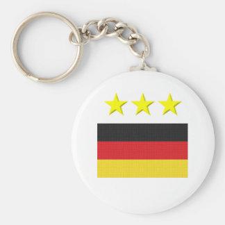 German Footie Basic Round Button Key Ring