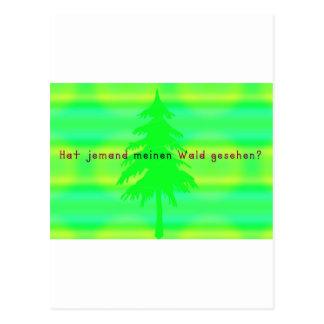 German -Forest Postcard