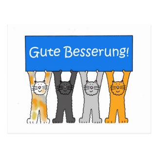 German get well soon. postcard