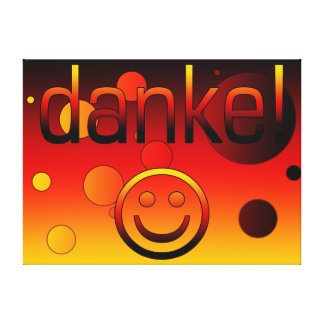 German Gifts Thank You Danke + Smiley Face Canvas Print
